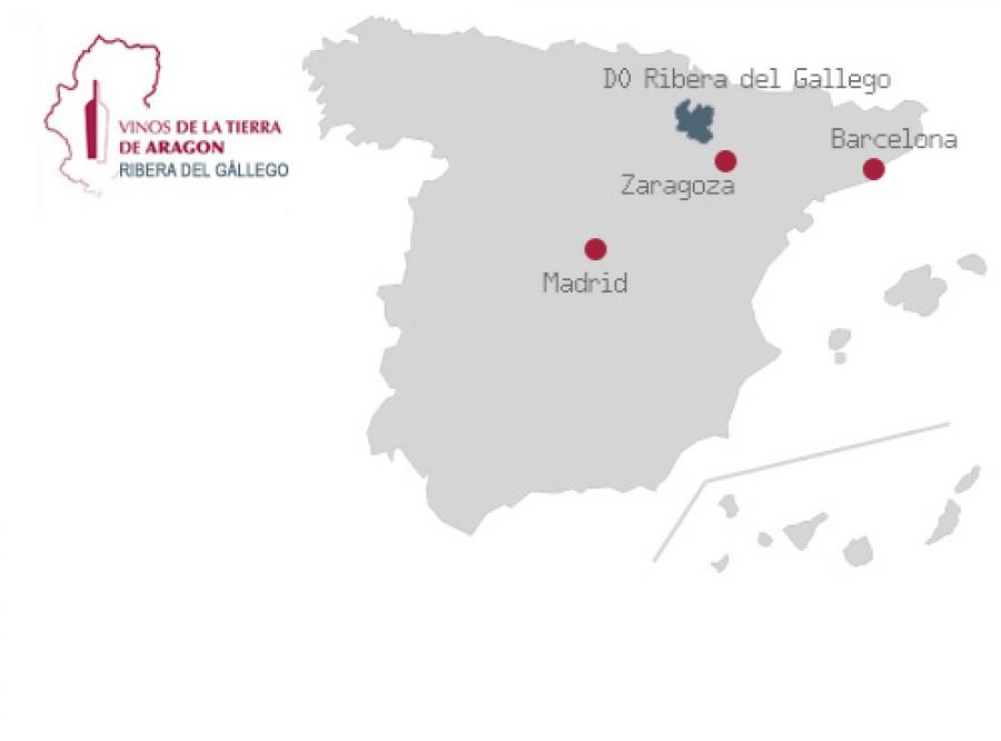 Wines from the Aragonese region five villas